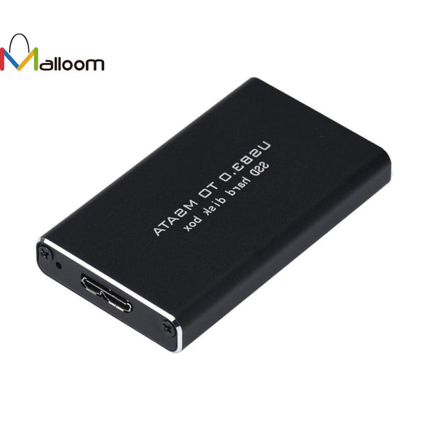 USB 3.0 to mSATA SSD Hard Disk Case Cover Box Enclosure Adapter+Tool