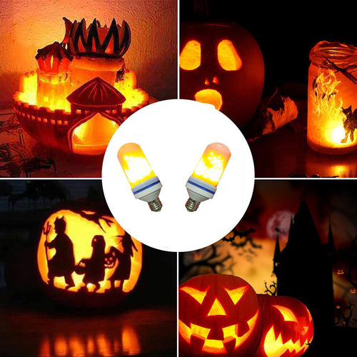 LED Flame Fire Light Effect Simulated Nature Corn Bulbs with Decoration Lamp