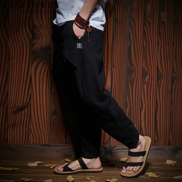 Traditional Chinese Bruce Lee Pants For Men's