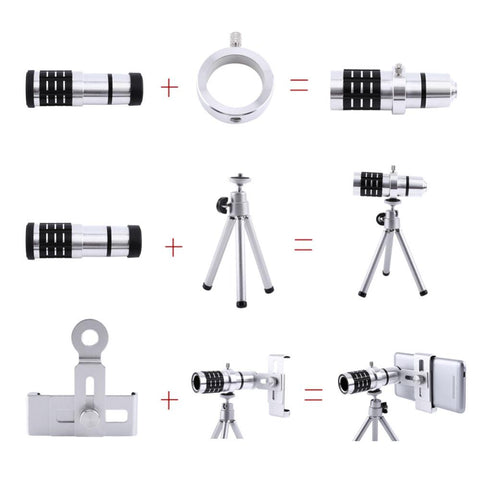 12x HD Pixel Elite Aluminum Telephoto Lens