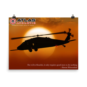 MH-60 On Approach - Atlas Athletic