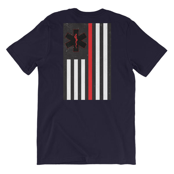 Thin Red Line - Navy Blue