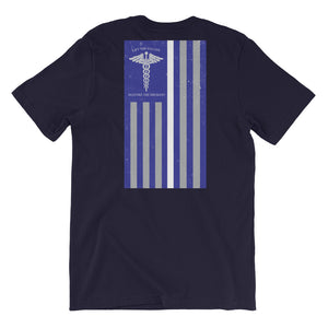 Thin White Line - Navy Blue