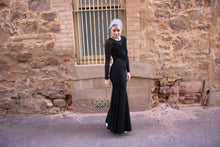 Formal Black Mesh Gown