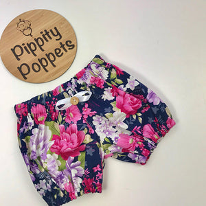 Girls Bloomers - Floral (Purple)