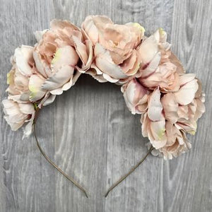 Dusty Pink Peony Crown