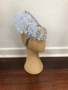 Stella Blue Lace Fascinator