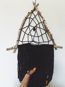 Black Witch Triangle Dream Catcher