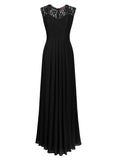 Vintage Deep-V Neck Wedding Party Maxi Dress - Miusol