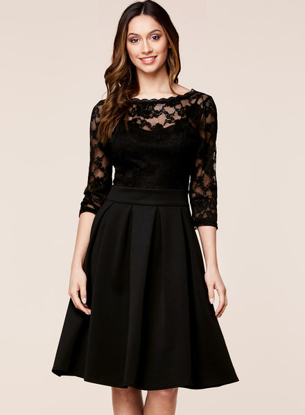 Fashion 2/3 Sleeve Cocktail Party Dress - Miusol