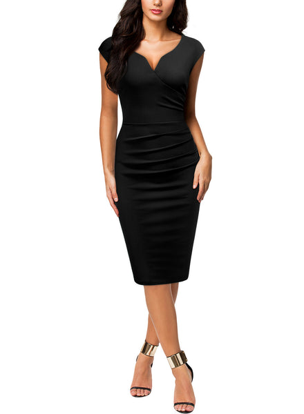 Slim Style Business Pencil Dress - Miusol