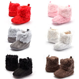 K&K- Crochet Fur Baby Booties 0-18M