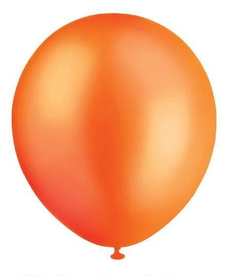 BALLOONS 30CM PEARL ORANGE‐20pcs-POPALOONPARTY