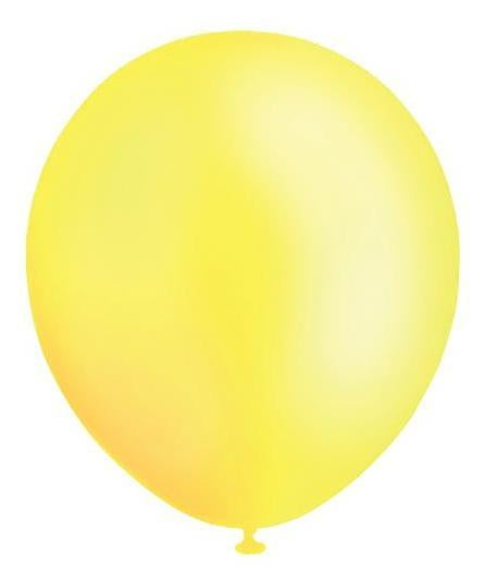 BALLOONS 30CM PEARL YELLOW‐20pcs-POPALOONPARTY