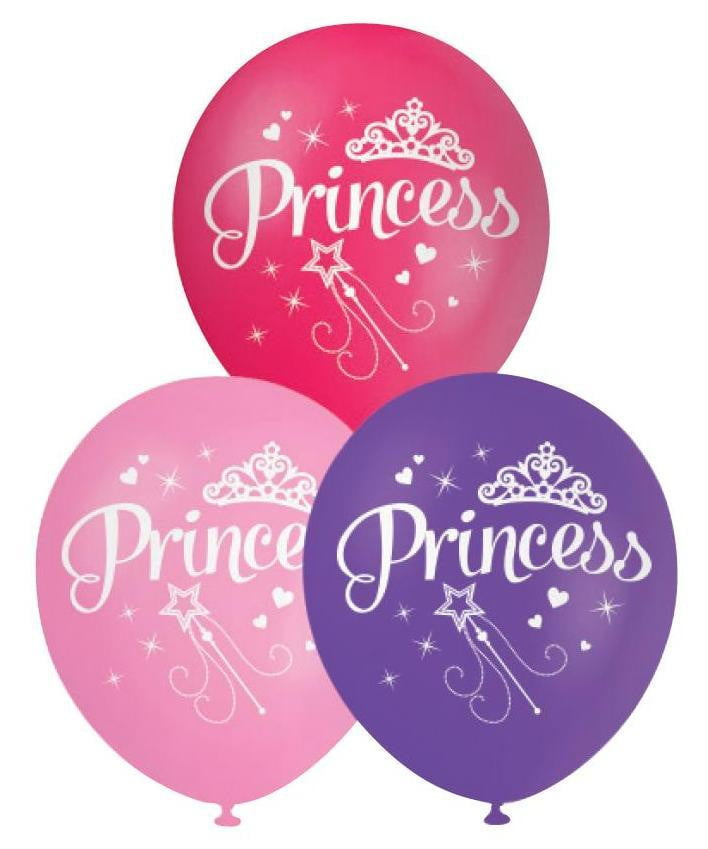 BALLOONS PRINTED PRINCESS‐10pcs-POPALOONPARTY