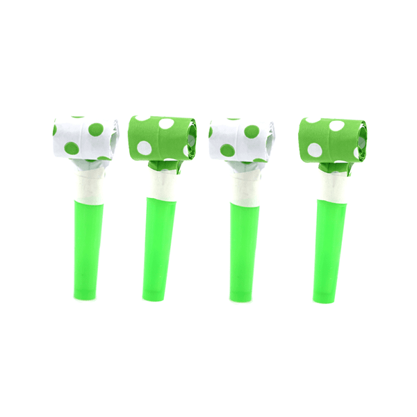 Blowouts‐Dots‐Lime Green‐ 10pcs-POPALOONPARTY