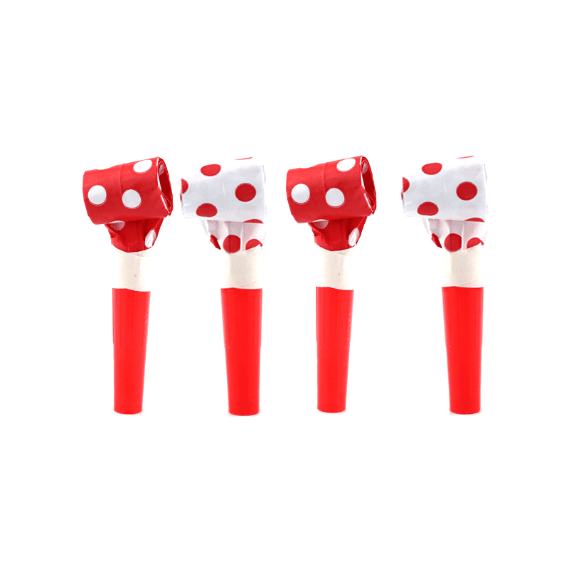 Blowouts‐Dots‐Red‐10pcs-POPALOONPARTY