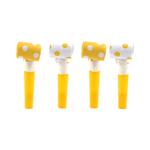 Blowouts‐Dots‐Yellow‐ 10pcs-POPALOONPARTY