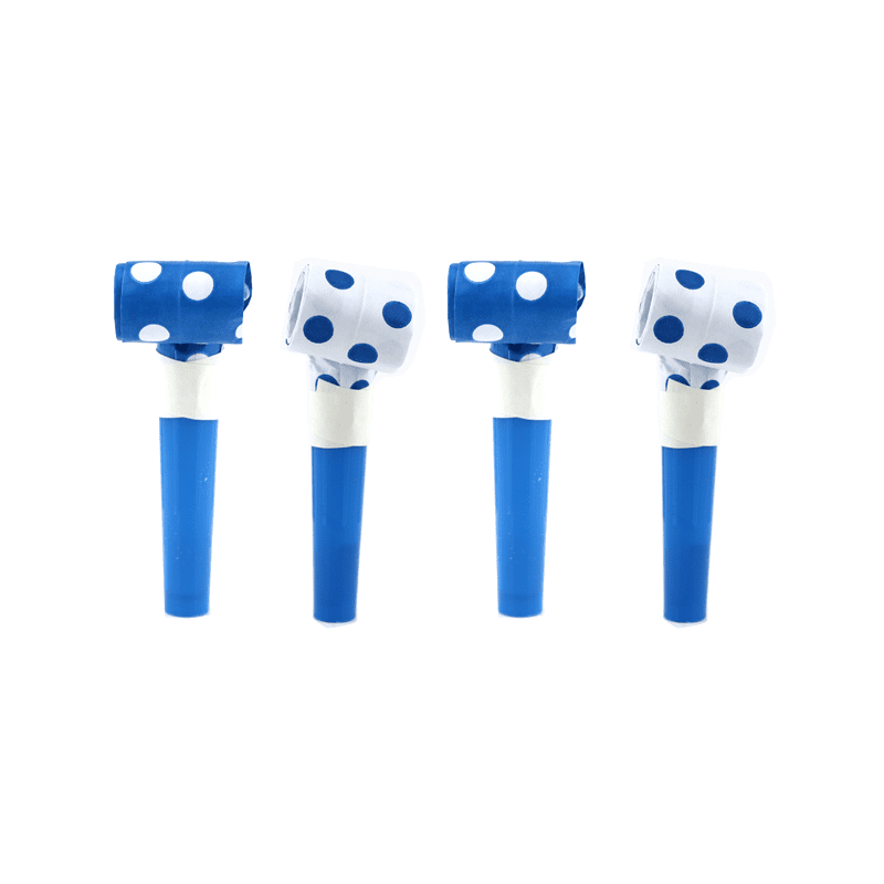 Blowouts‐Dots‐Royal Blue‐ 10pcs-POPALOONPARTY