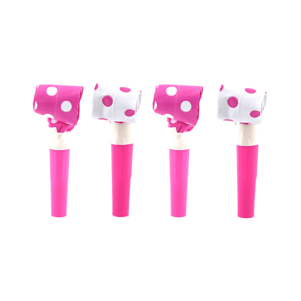 Blowouts‐Dots‐Pink‐10pcs-POPALOONPARTY