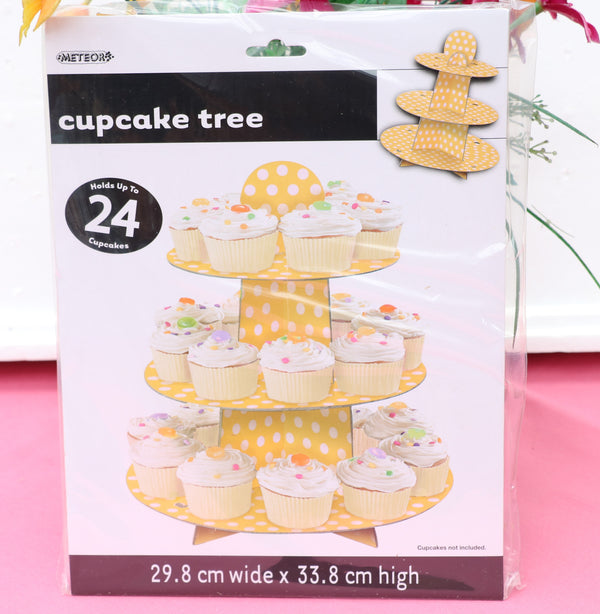 Paper Cupcake Holder-Yellow-POPALOONPARTY