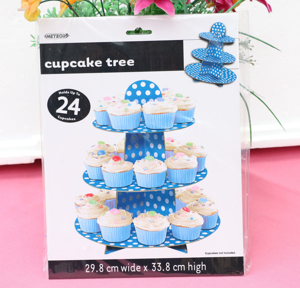 Paper Cupcake Holder-Blue-POPALOONPARTY