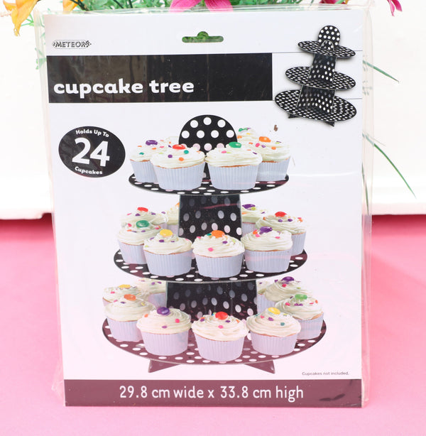 Paper Cupcake Holder-Black-POPALOONPARTY