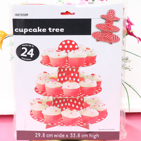 Paper Cupcake Holder-Red-POPALOONPARTY