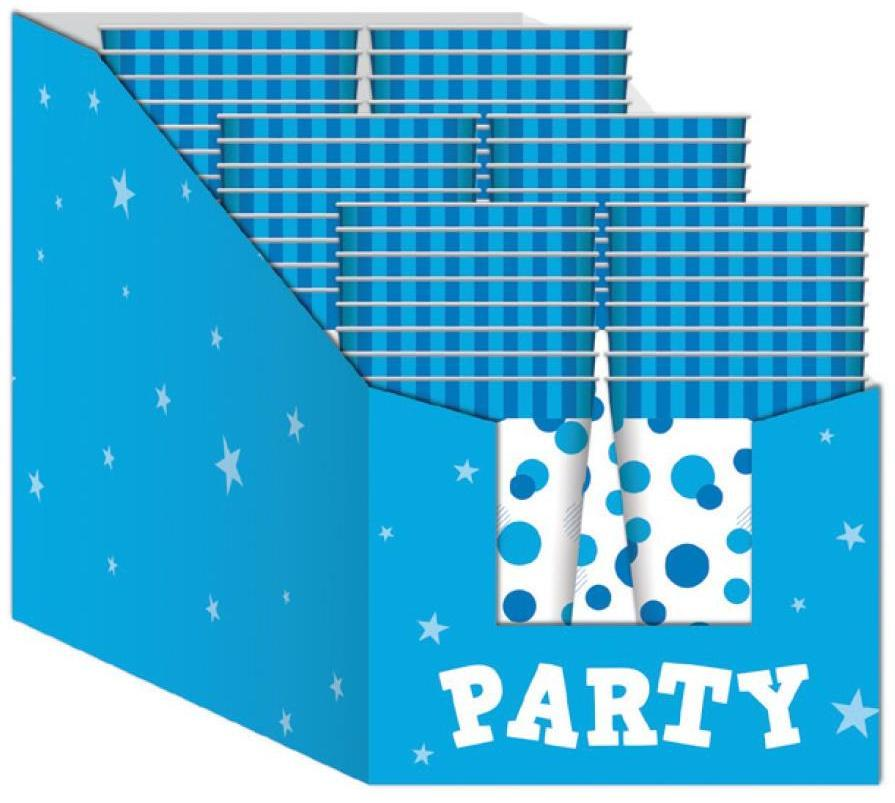PARTY CUPS BLUE SPOT