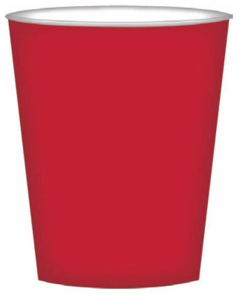 PARTY CUPS CRIMSON RED
