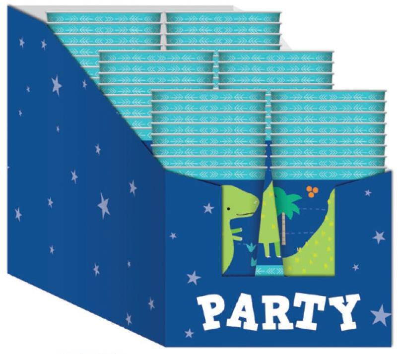 PARTY CUPS DINO-ROAR