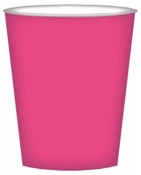 PARTY CUPS HOT PINK