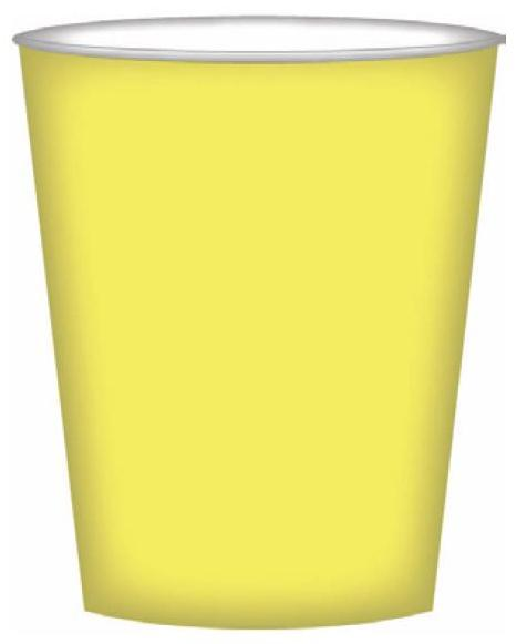 PARTY CUPS LEMON YELLOW