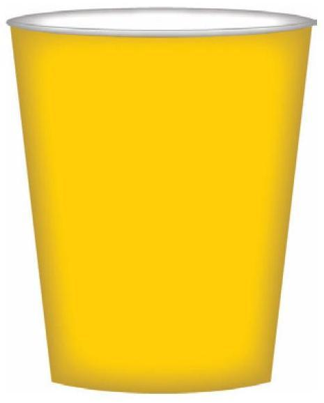 PARTY CUPS SUNNY YELLOW