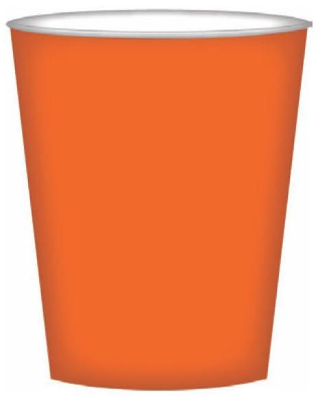 PARTY CUPS VIBRANT ORANGE
