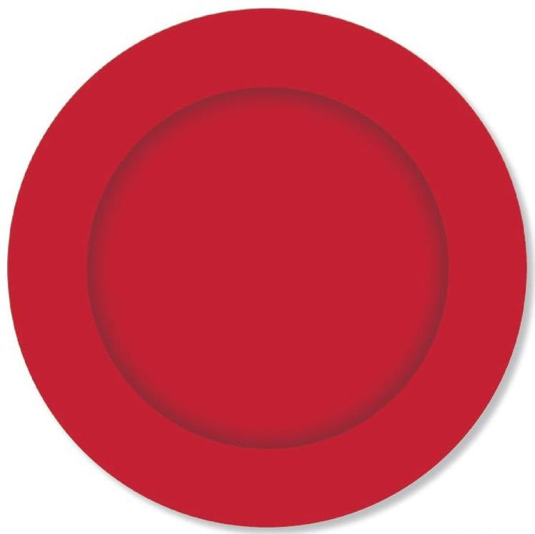 PARTY PLATES CRIMSON RED