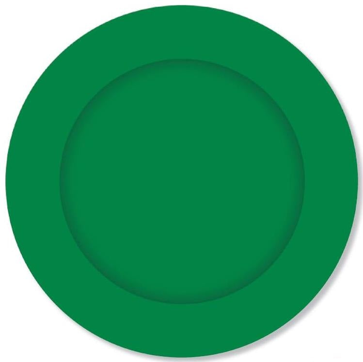 PARTY PLATES FOREST GREEN