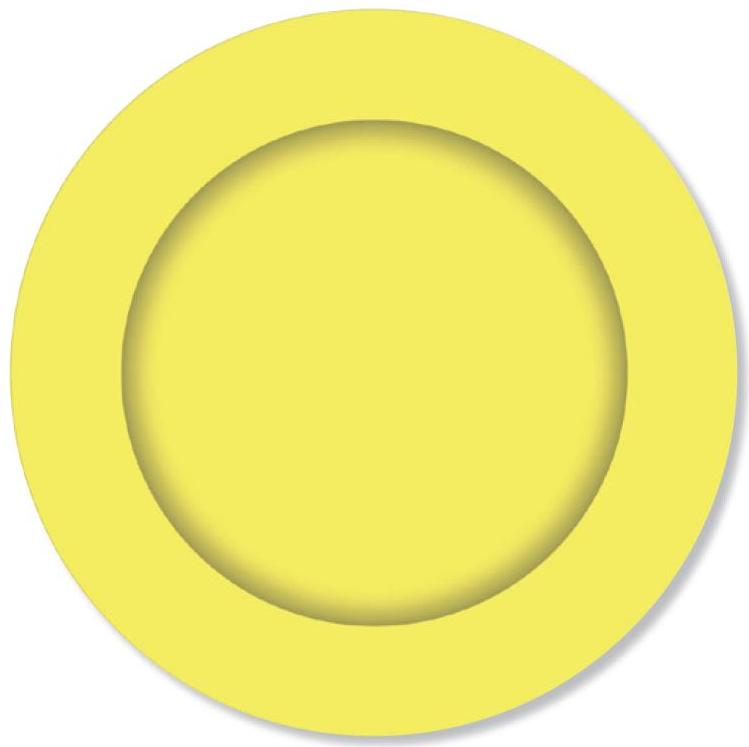 PARTY PLATES LEMON YELLOW