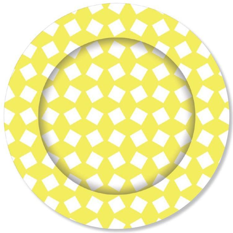 PARTY PLATES PRINTED LEMON