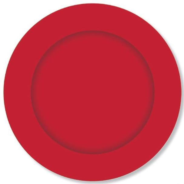 PARTY PLATES SMALL CRIMSON RED