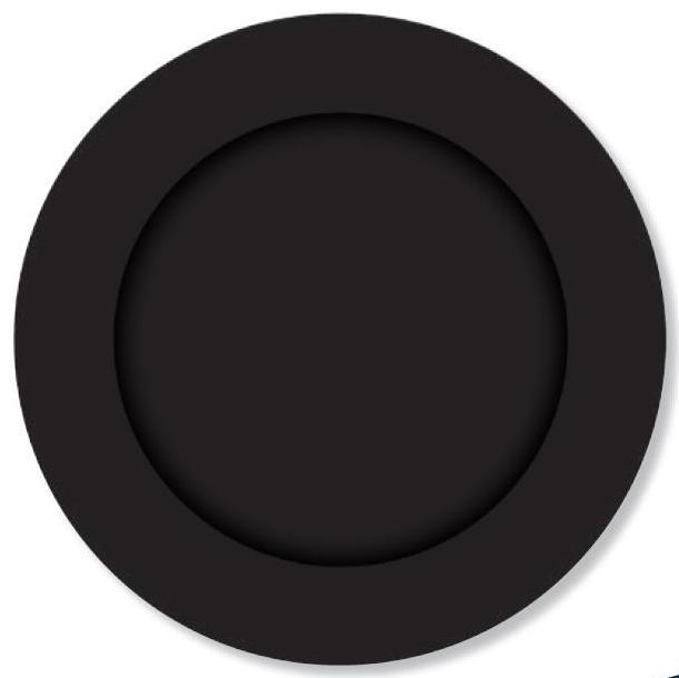 PARTY PLATES SMALL EBONY