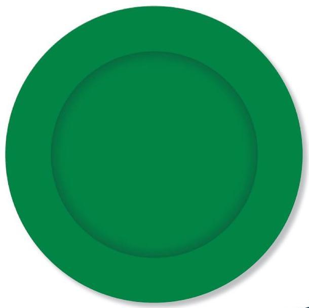 PARTY PLATES SMALL FOREST GREEN