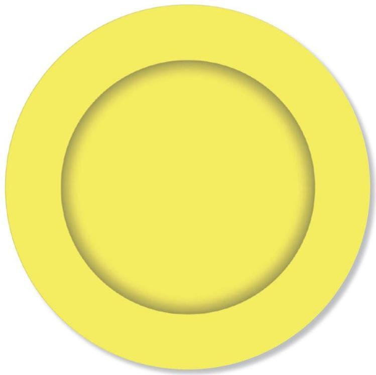 PARTY PLATES SMALL LEMON