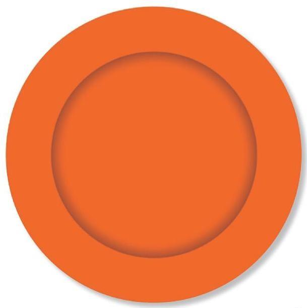 PARTY PLATES SMALL ORANGE