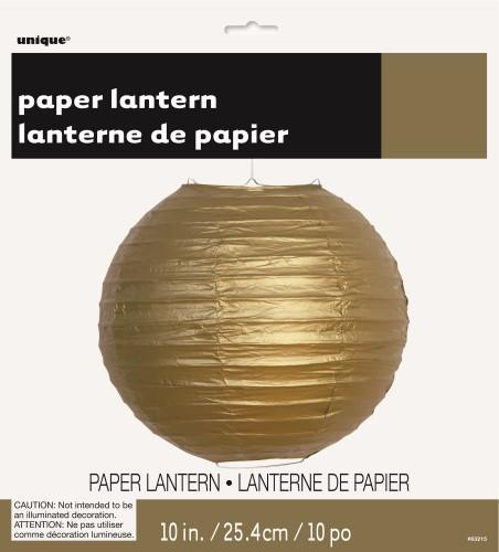 Round Paper Lantern- Gold-POPALOONPARTY