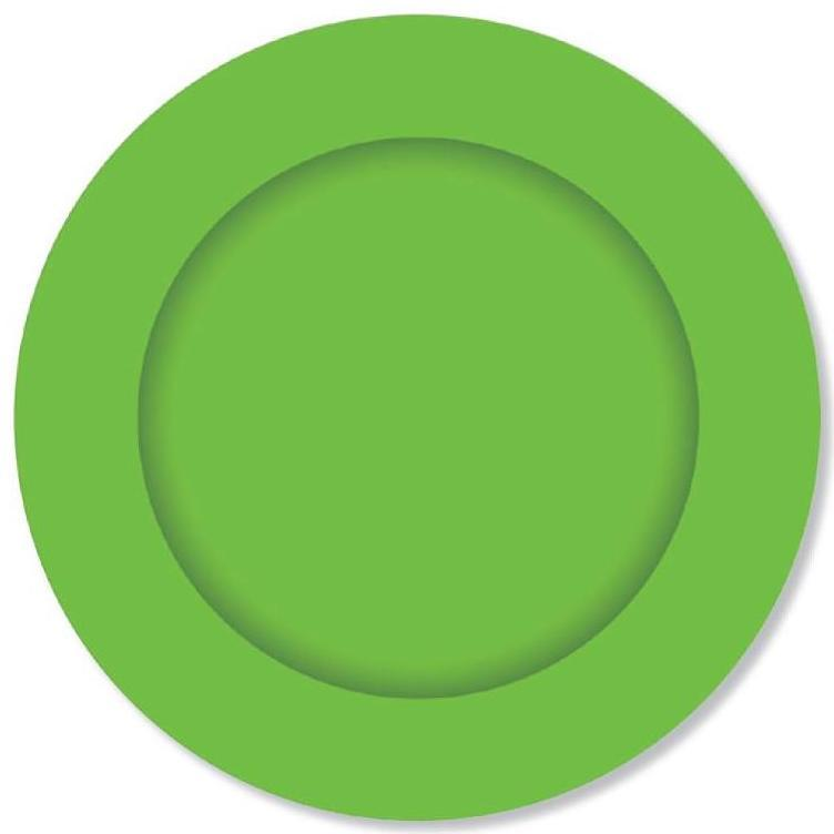 PARTY PLATES LIME GREEN