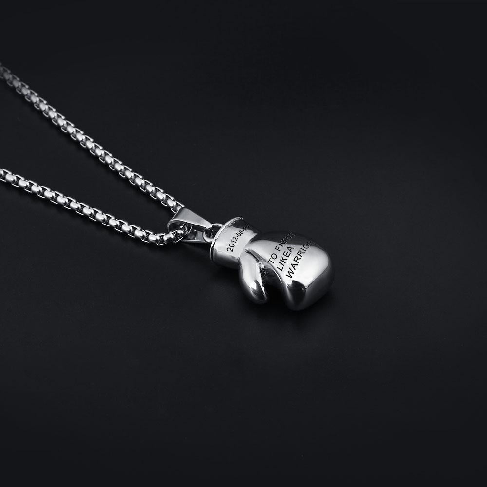 Mens necklaces pendants personalized stainless steel engraved mens necklaces pendants personalized stainless steel engraved names fitness boxing gloves aloadofball Gallery