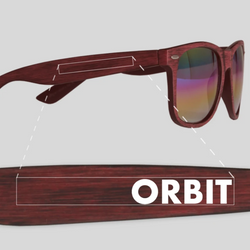 Orbit Woodtone Mirrored Malibu Sunglasses