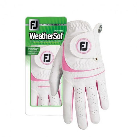 FOOTJOY WEATHERSOF LADY PAIR GOLF GLOVE