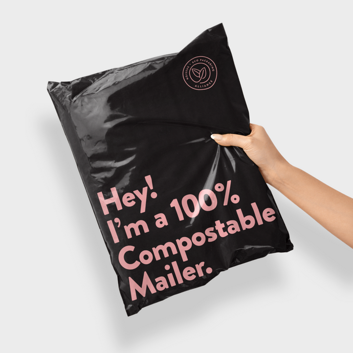 100% Compostable Satchel Standard - 100 Mailing Bags
